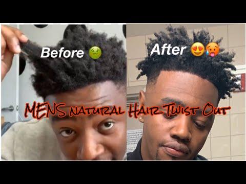 super-easy-twist-out⁉️😱- -men's-afro-twist