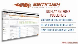 SEMrush Display Network Publishers Report