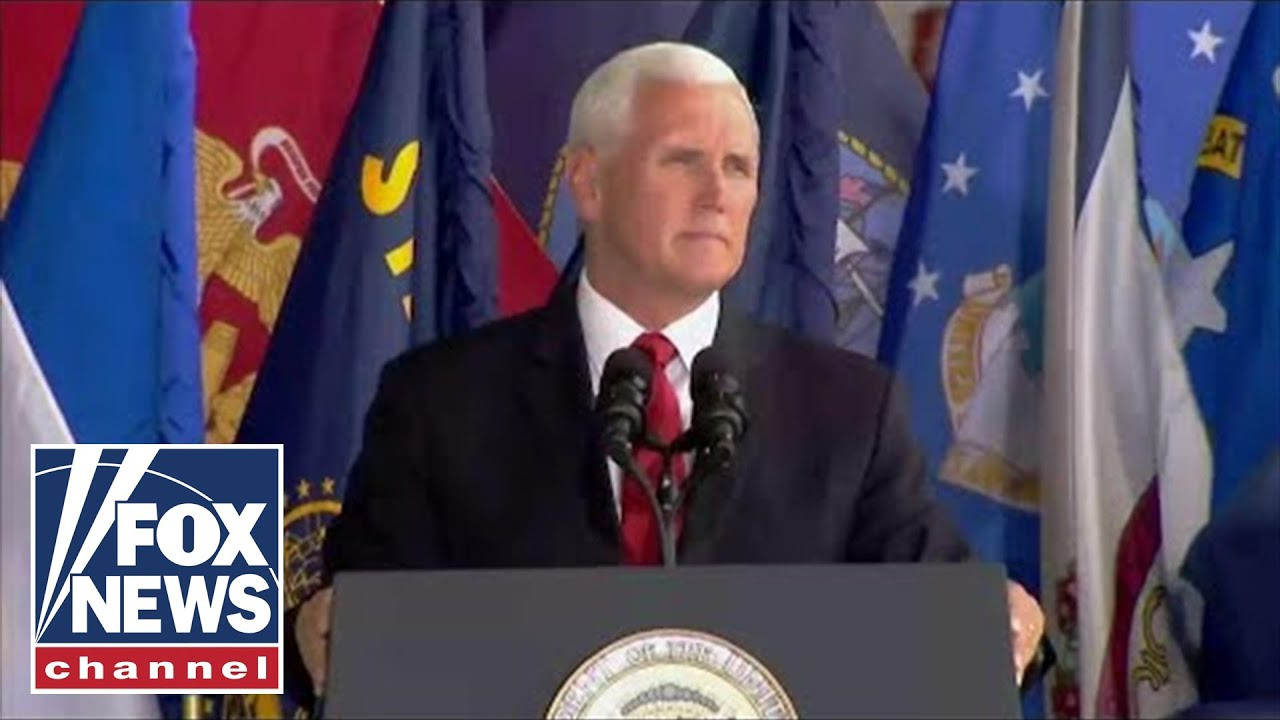 Hasil gambar untuk Vice President Pence Delivers Remarks at an Honorable Carry Ceremony