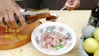 How To Make Tuna Poke With Nong's Sauce