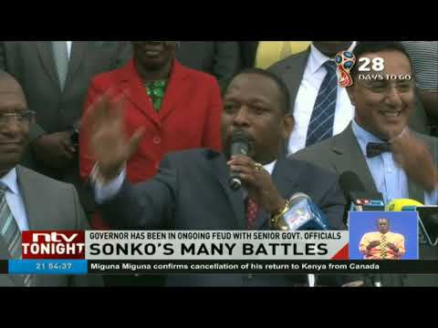Governor Sonko's security reduced to three from ten