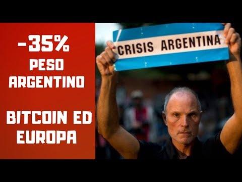 Disastro Argentina -35% Peso, Due Parole Su Bitcoin Ed Europa