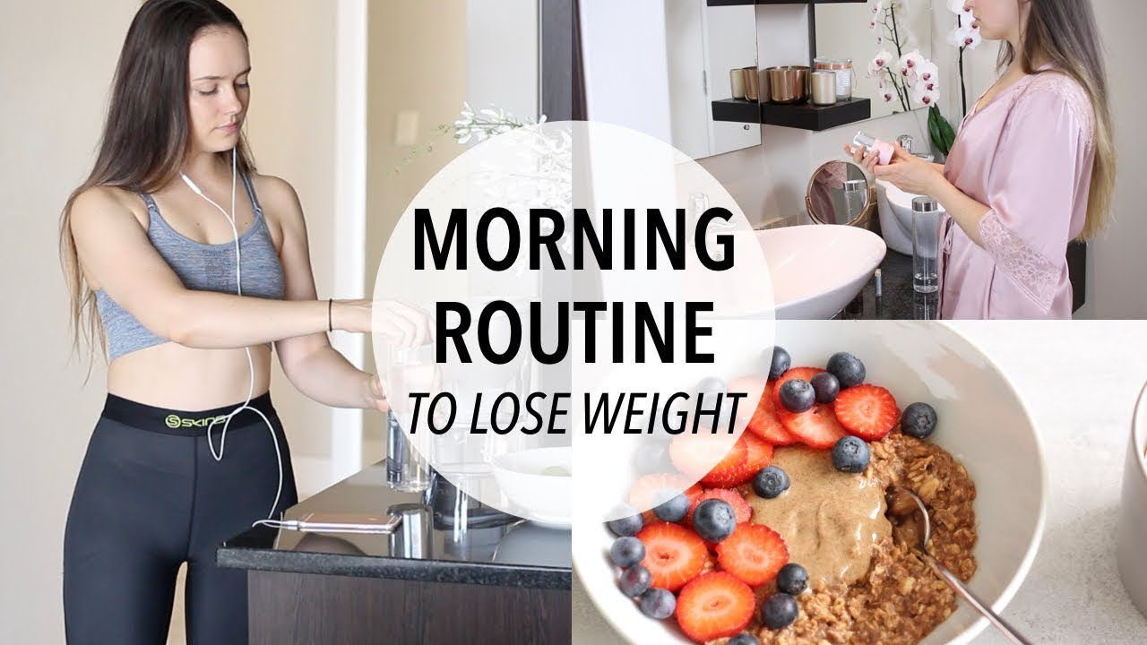 MY MORNING ROUTINE TO LOSE WEIGHT   HEALTHY BREAKFAST IDEA!