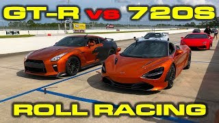 Godzilla calls out 720S - Full Bolt on E85 2017 Nissan GT-R vs McLaren 720S 40-160 MPH Roll Racing