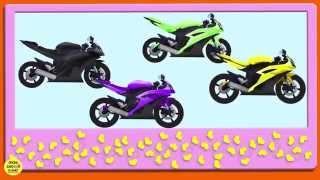 Умный планшет № 11 Мотоциклы Развивающие мультики для детей