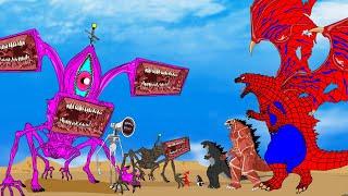 Evolution Of Godzilla Vs Evolution of Siren Head, Megahorn And Megaphone | ANIMATION SKILL 2021