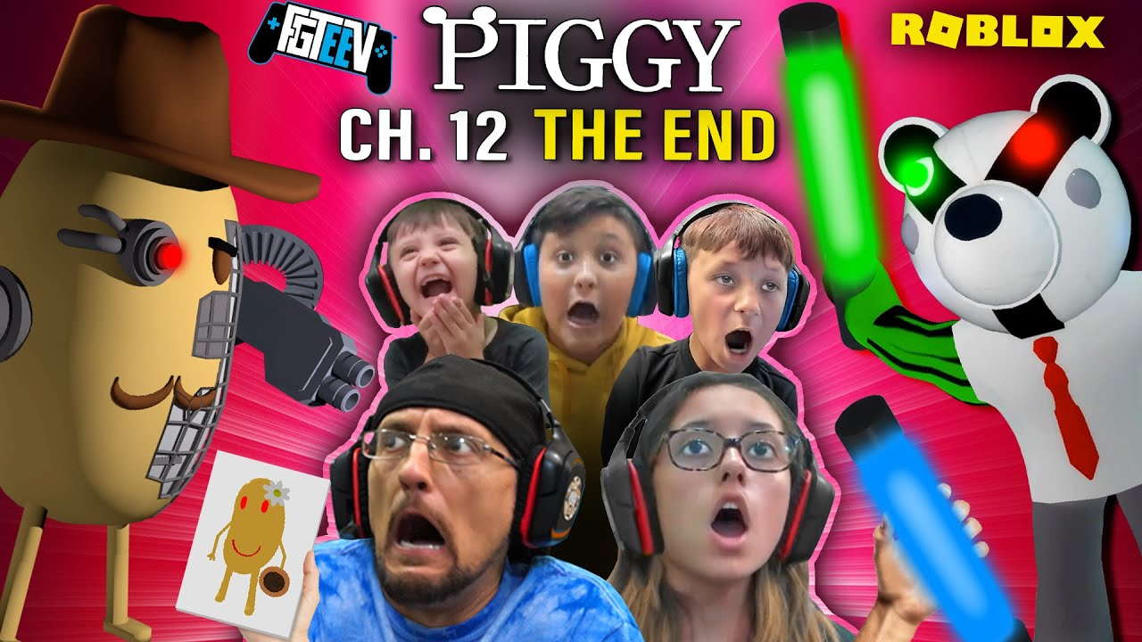 ROBLOX PIGGY Chapter 12: The Plant! FGTeeV Multiplayer Escape (The End)