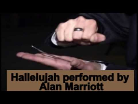 Alan Marriott man of the mind singing Hallelujah