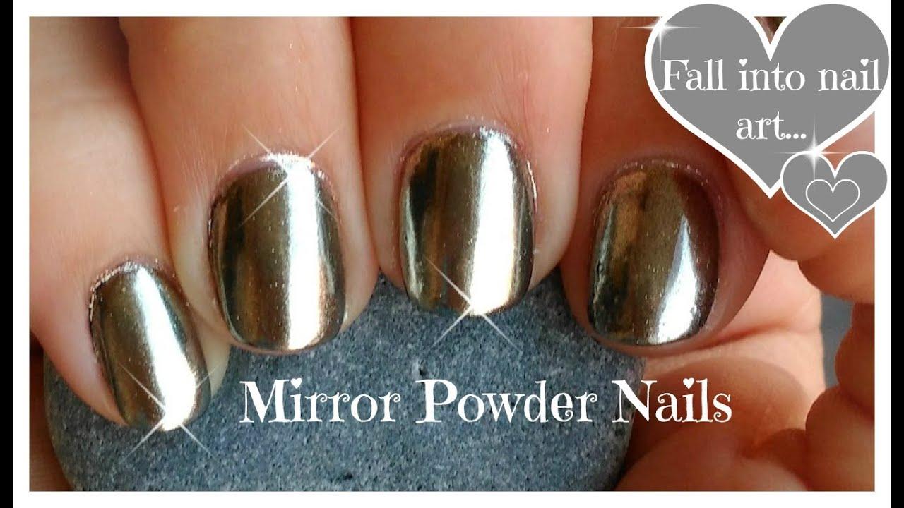 ♥ DIY, Chrome Powder Mirror Nails on a Budget ♥ - YouTube