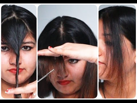 How to cut BANGS at home with tips and suggestions| आगे के बालो को कैसे काटे ?