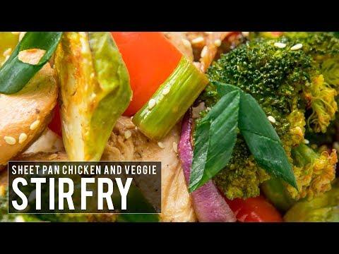 Sheet Pan Chicken and Veggie Stir Fry