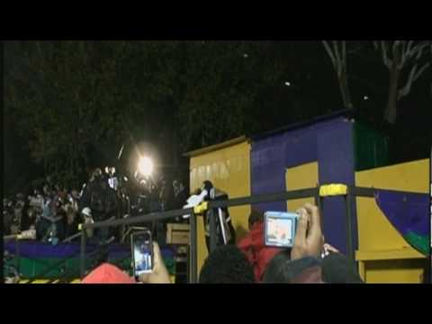 Ying Yang Twins perform Halftime Stand Up and Get Crunk  during the Lombardi Gras Parade