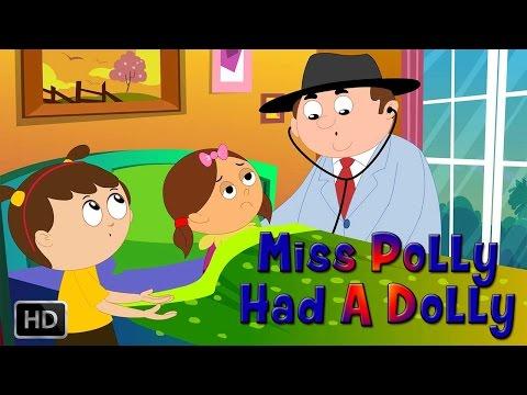 Miss Polly Had A Dolly - Nursery Rhyme With Lyrics - Kids Songs
