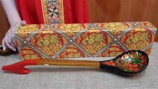 Ложка Хохлома уникальная 49 см | Хохломская ложка