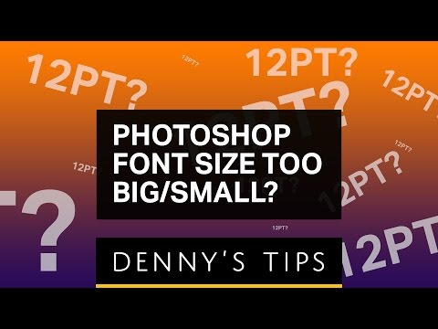How to change font size in photoshop cs6