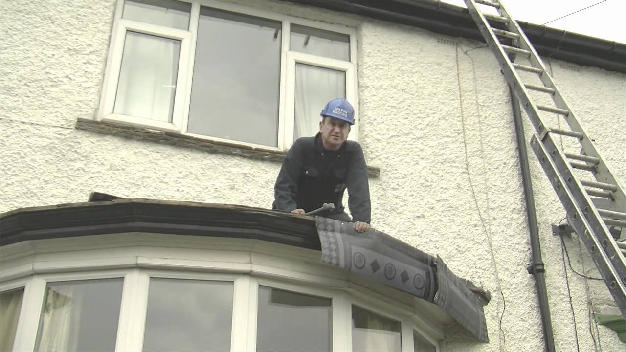 Flat Roof on a Bay Window Top using High Performance Felt | Dalton Roofing - YouTube & Flat Roof on a Bay Window Top using High Performance Felt | Dalton ...