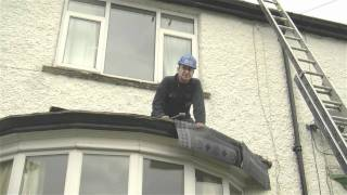 Flat Roof On A Bay Window Top Using High Performance Felt | Dalton Roofing