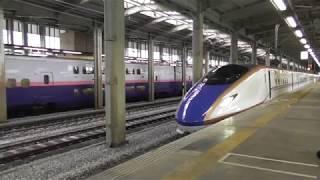 上越新幹線E7系 とき327号 新潟行き 長岡駅発車