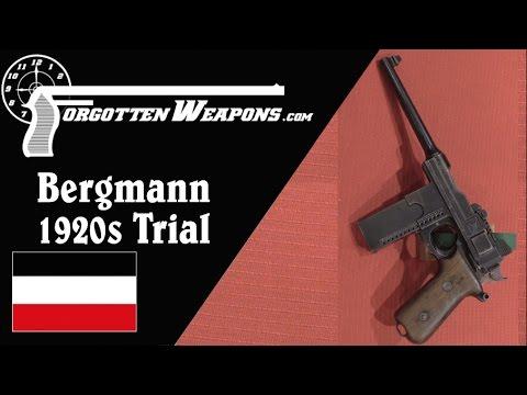 Bergmann 1920s Experimental Military Trials Pistol