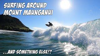 Surfing around Mount Maunganui and something else!? NEW ZEALAND
