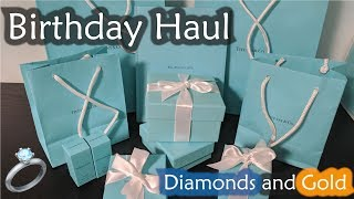 Massive Tiffany Birthday Haul: Gold and Diamonds