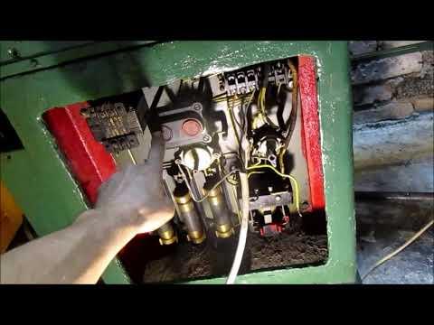 Токарно - винторезный станок 1 в 61. Первый пуск, электрика и система смазки.