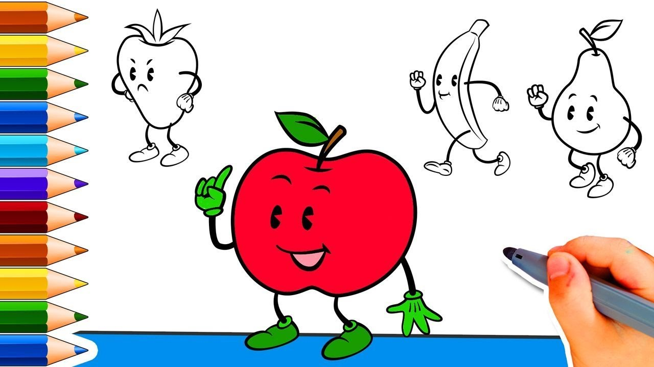 Old Fashioned Fruits Coloring Pages With Names Embellishment ...