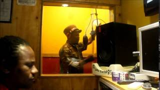 Luciano voicing  Raggamuffin  dub  for Wayne Lonesome at his Run Things Recording Studio