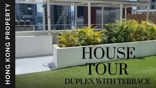 HOUSE TOUR | DUPLEX PENTHOUSE WITH PRIVATE STAIRS TO ROOF GARDEN | Hong Kong