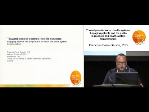 Toward People-centered Health Systems: Engaging Patients And The Public