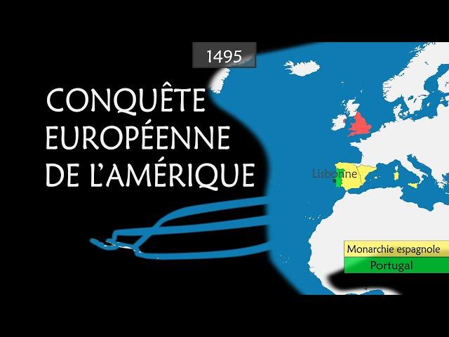 La conquête européenne de l'Amérique résumée sur cartes