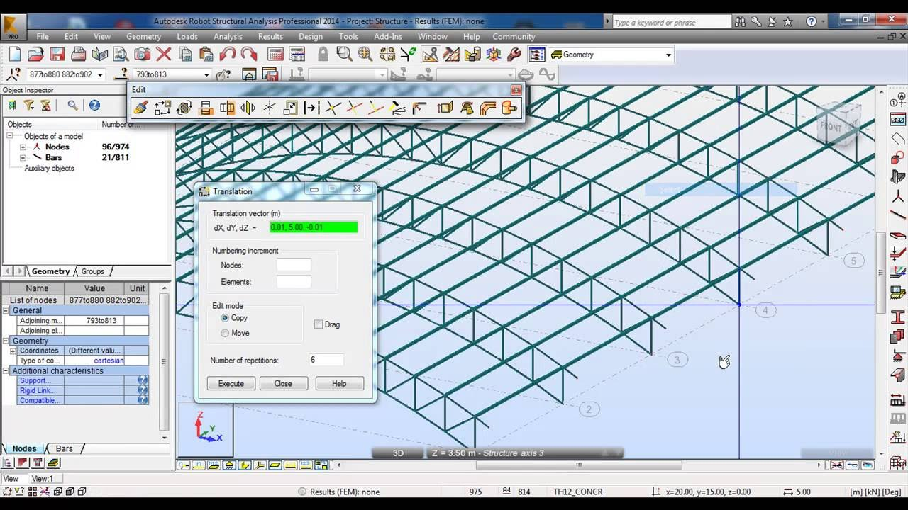 Roof In Civil Engineering Autodesk Robot Structural