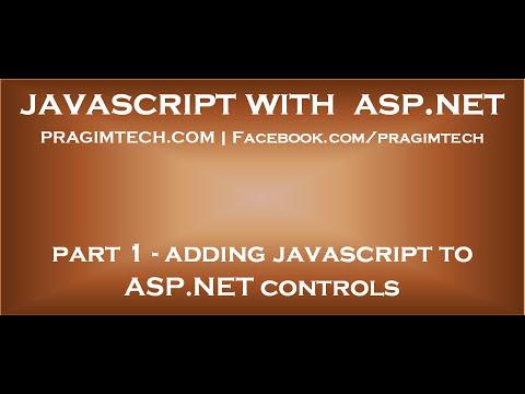 Adding JavaScript to ASP NET controls