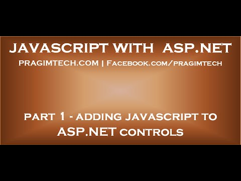 JavaScript with ASP.NET tutorial