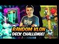 NEUE RANDOM KLON DECK CHALLENGE! | BIGSPIN Vs. FLOBBY! | Clash Royale Deutsch