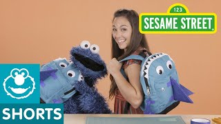 Sesame Street: DIY Shark Backpack Costume with Nina and Cookie Monster