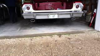 1963 Impala 327, flowmasters 40 series delta flow