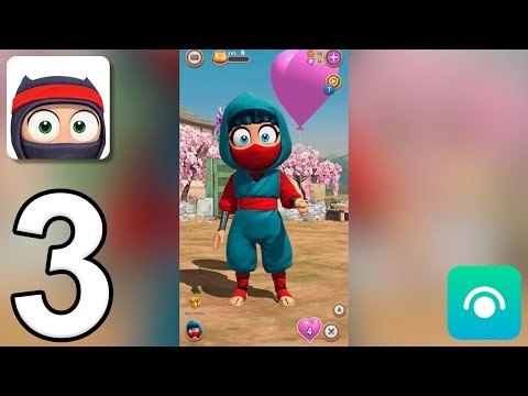 Clumsy Ninja - Gameplay Walkthrough Part 3 - Level 5-6 (iOS, Android)
