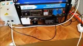 видео Бензиновый генератор ТСС SGG 5000 EH (новая модель)