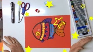 """[Tutorial] How to draw """"Cute Fish"""" for kids"""