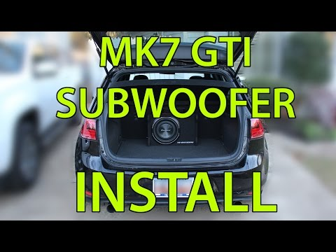 Subwoofer Install on a 2015 MK7 GTI  - YouTube