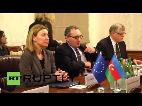 "Azerbaijan: SGC energy supply is of ""utmost importance"" to EU - Mogherini"