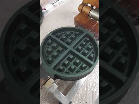 Waffle Plate Cleaning Idea