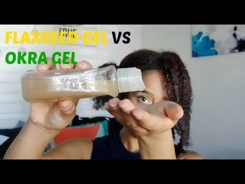 DIY Flaxseed Gel VS Okra Gel | Natural Hair | Frizzique