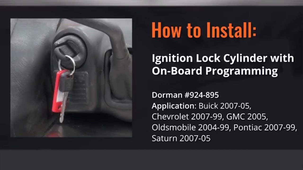 Chevy Gmc Ignition Lock Cylinder Repair Video By Dorman Products