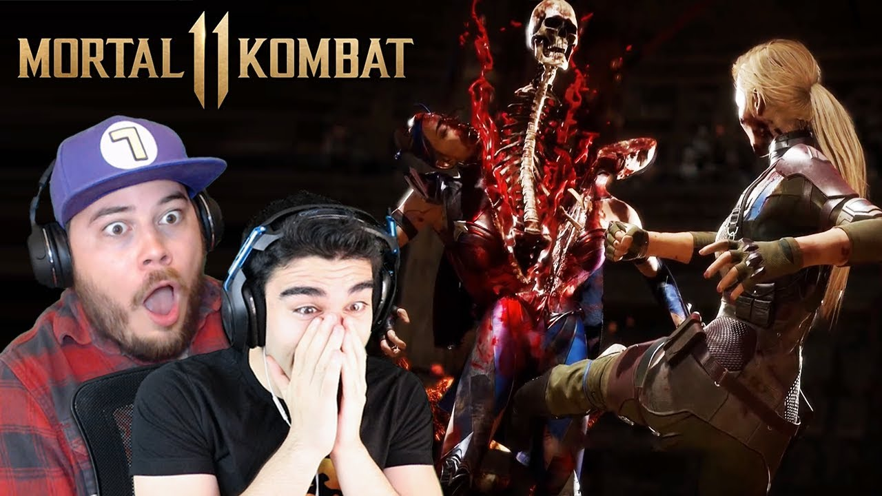 MY BEST FRIEND COULDN'T HANDLE THESE FATALITIES! - Mortal Kombat 11 All Fatalities Reaction (Pa