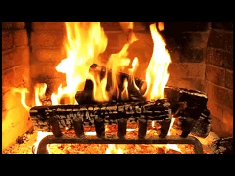 Old Traditional Christmas Carols Music Playlist With A Log
