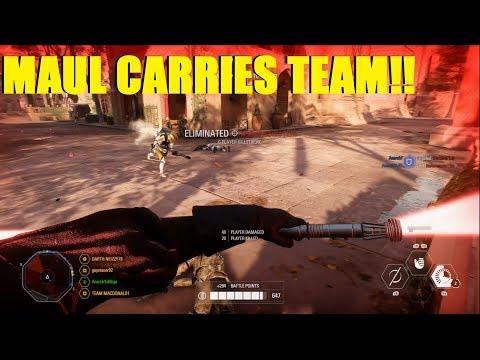 Star Wars Battlefront 2 - I do everything and it's STILL not enough! | Darth Maul Killstreak! thumbnail