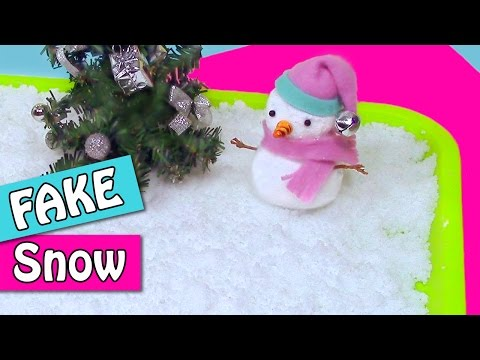 DIY Christmas crafts: How to make FAKE SNOW - Innova Crafts