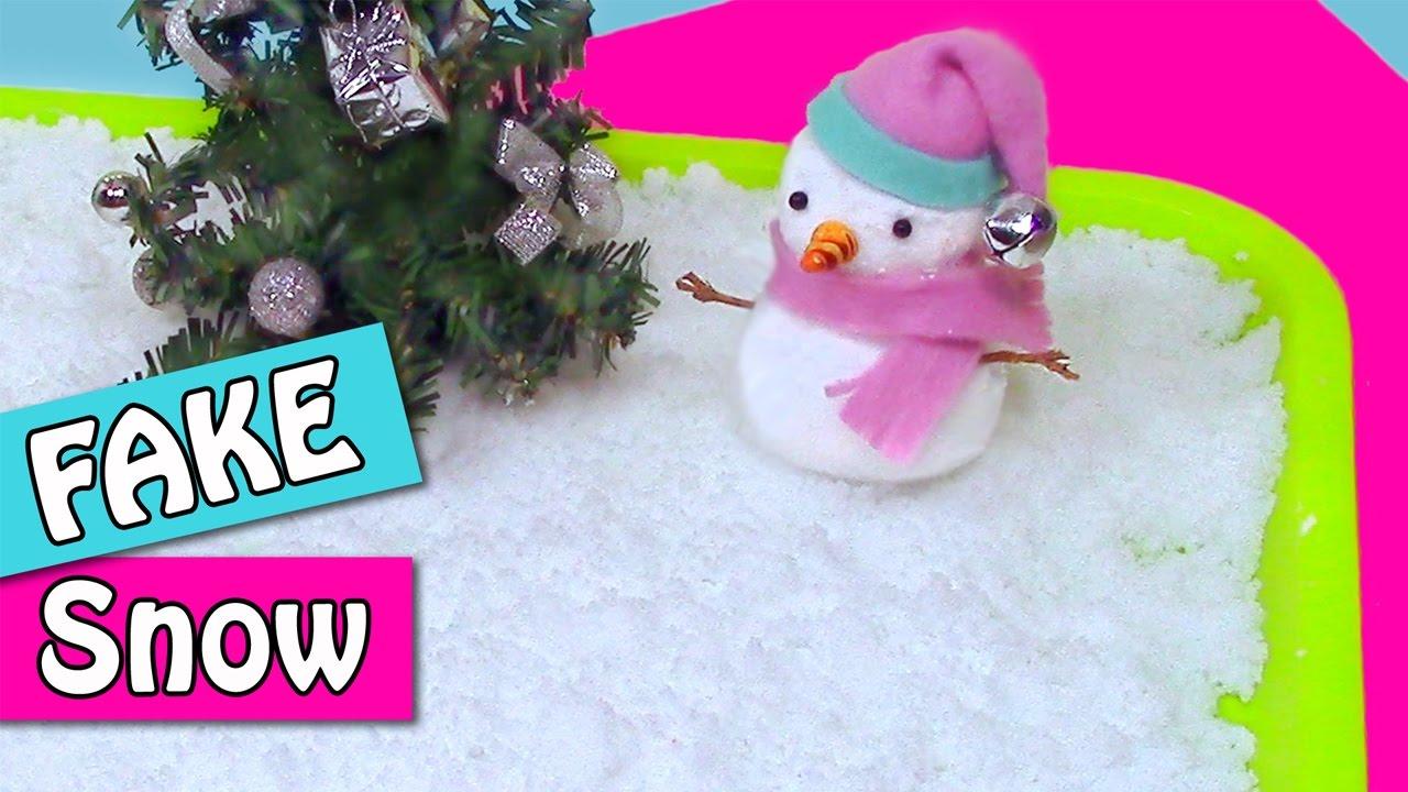 Diy christmas crafts how to make fake snow innova for Fake snow recipe for crafts